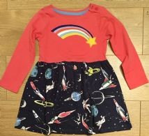 MINI BODEN CORAL HOPSCOTCH SPACE DRESS AGE 2-3 TO 11-12 YEARS